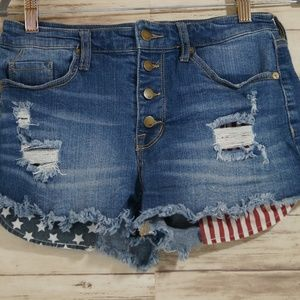 Mossimo Patriotic High Rise Shorts 8